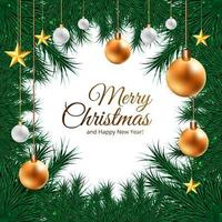 Christmas holiday frame background