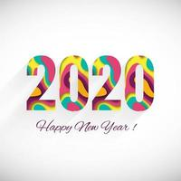 Happy New Year 2020 winter holiday greeting card