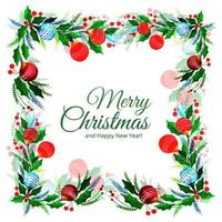 Merry christmas decorative leaf celebration background