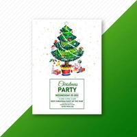 Green Christmas tree design vector