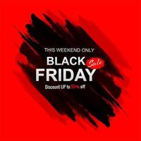 Black friday sale with stroke background vector