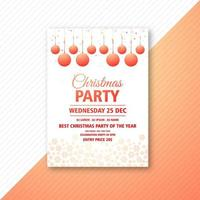 christmas party event flyer design template vector