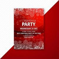 Frohe Weihnachten Party Flyer Design vektor