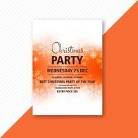 elegant christmas party flyer temeplate design