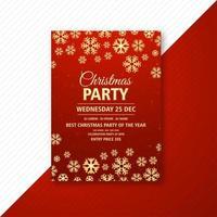Weihnachtsfeier Flyer Template-Design vektor