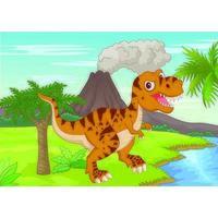 T-rex em O Parque Jurássico