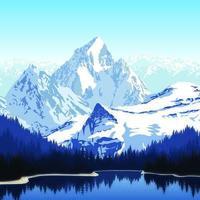 Beau lac en saison d'hiver