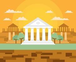 Dessin animé de la Grèce antique