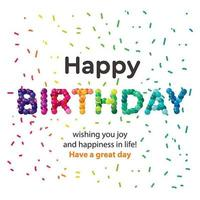 Feliz cumpleaños diseño de globos de colores