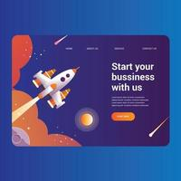 Rocket Science Landing Page for Bussiness