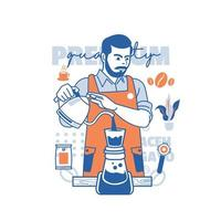 Barista Working Day vector