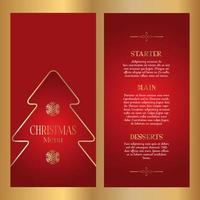 Decorative Christmas menu design - double sided