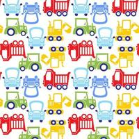 funny colorful cartoon car pattern