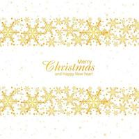 Winter background with snowflakes merry christmas card design