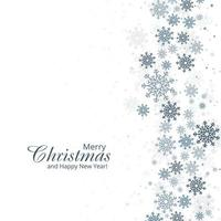 Winter background with snowflakes card design
