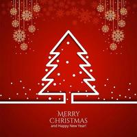 Christmas tree with decorations Holiday background