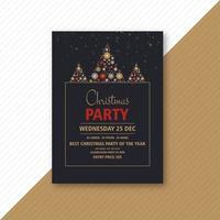 dekorative Weihnachtsfeier Flyer vektor