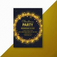 Weihnachtsfeier Flyer Design Vorlage Karte vektor