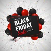 black friday sale background with balloons design