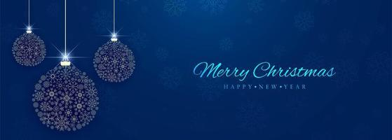 Beautiful decorative christmas ball colorful banner background