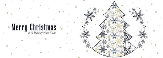 Beautiful Christmas snowflake card celebration banner background