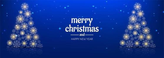 Beautiful merry christmas background banner template design