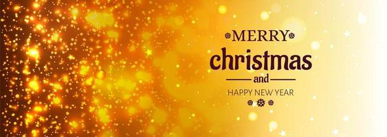 Beautiful merry christmas shiny glitters banner background