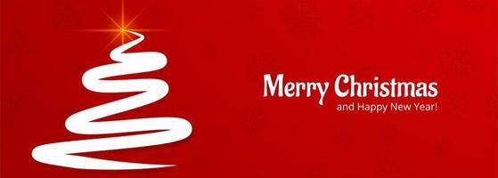 élégante bannière de célébration de carte de sapin de Noël