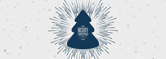 Elegante banner de celebración de tarjeta de árbol de Navidad