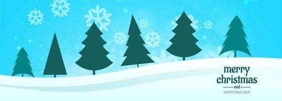 christmas banner for christmas tree card background vector