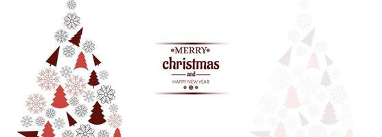 Horizontal banner with christmas card vector background