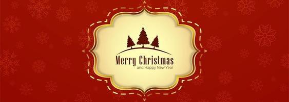 Hermoso diseño de plantilla de banner de fondo de feliz navidad