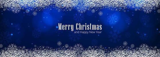 Belle conception de modèle de bannière de fond joyeux Noël