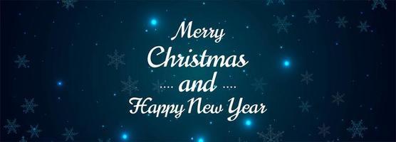 Fondo de diseño de banner de copos de nieve de feliz Navidad