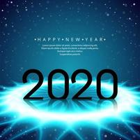 Conception du texte du nouvel an futur 2020 vecteur