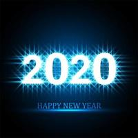 Conception de cartes de célébration texte 2020 Happy New Year