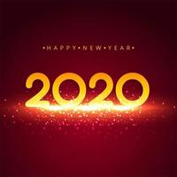 Bright 2020 new year background celebration vector