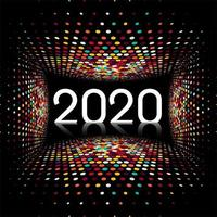 New Year creative 2020 text disco light design