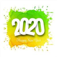 Bright 2020 new year text celebration background