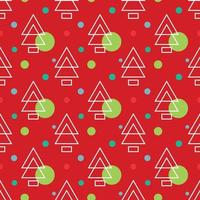 Simple pine christmass pattern vector illustrations
