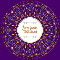 Purple Border Mandala Decoration vector
