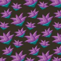 decoración de flores de naturaleza púrpura vector