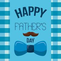 happy fathers day card with mustache and bow tie