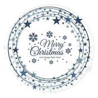 merry christmas stars festival card design