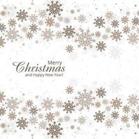 Fondo de invierno con copos de nieve feliz diseño de tarjeta de navidad