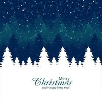 Fondo de vacaciones de celebración de tarjeta de árbol de Navidad