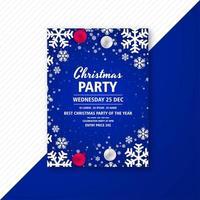 Weihnachtsfeier Feier Flyer vektor