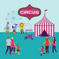 fête du cirque vecteur