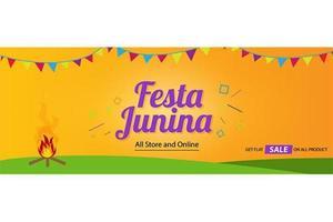 diseño de plantilla de fondo de cubierta de festa junina