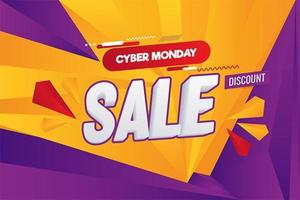 Cyber Monday Abstract Sale Vector Illustration Background